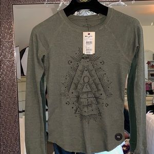 Brand New Billabong Olive Long Sleeve Top